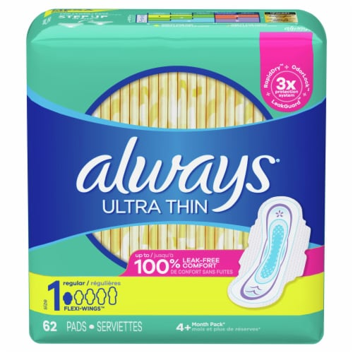 Always Ultra Thin Regular Size 1 Flexi-Wings Pads Perspective: front