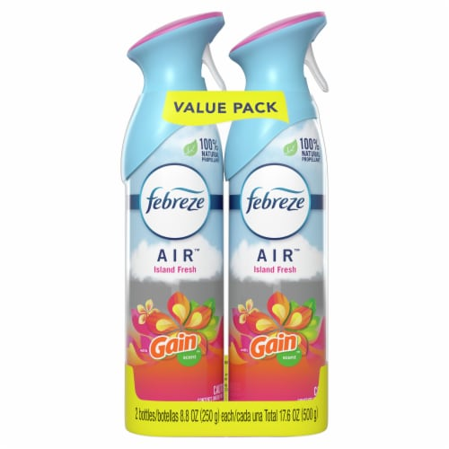 Febreze Gain Island Fresh Air Freshener Value Pack Perspective: front