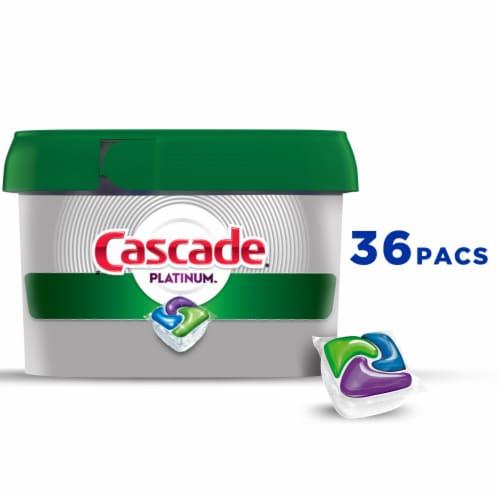 Cascade Platinum Dishwasher Detergent ActionPacs Fresh Scent Perspective: front