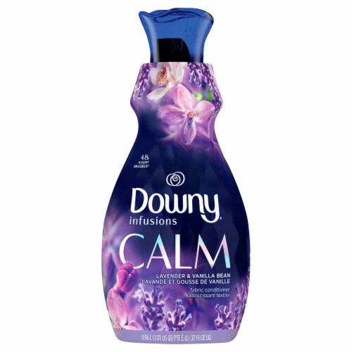 Downy Infusions Calm Lavender & Vanilla Bean Fabric Conditioner Perspective: front