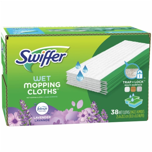 Swiffer Sweeper Lavender Vanilla & Comfort Wet Mopping Cloths Perspective: front