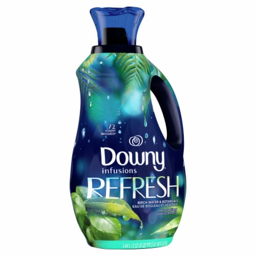 Downy Infusions Refresh Birch Water & Botanicals Liquid Fabric Conditioner Perspective: front