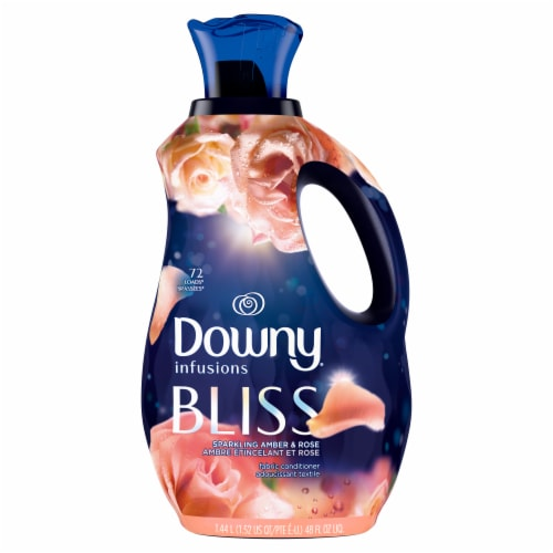 Downy Infusions Bliss Sparkling Amber & Rose Liquid Fabric Softener Perspective: front