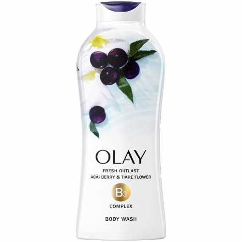 Olay Fresh Outlast Acai Berry & Tiare Flower Body Wash for Women Perspective: front