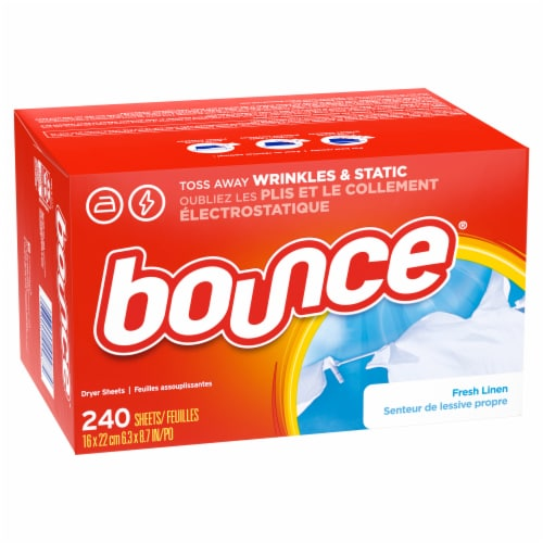 Bounce Fresh Linen Scented Dryer Sheets Perspective: front