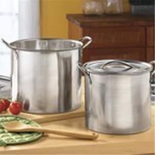 Bene Casa BC16470 16 qt Stainless Steel Stock Pot with Lid Perspective: front