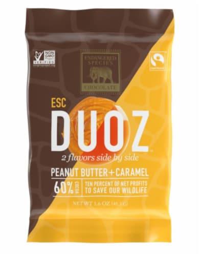 Endangered Species Duoz Peanut Butter & Caramel Dark Chocolate Bar Perspective: front