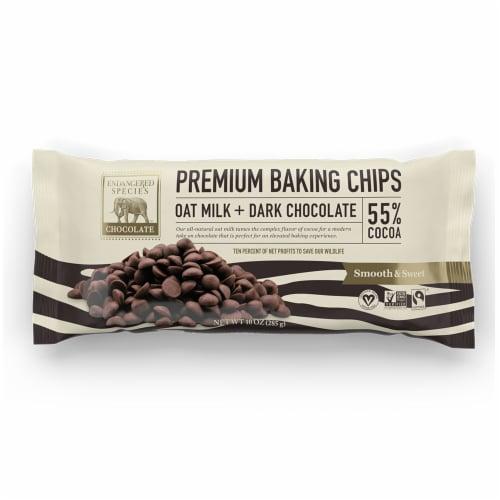 Endangered Species Oat Milk + 55% Dark Chocolate Baking Chips Perspective: front
