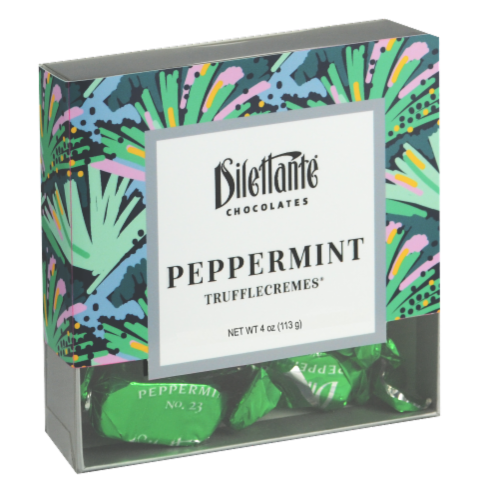 Dilettante Chocolates Peppermint TruffleCremes Perspective: front