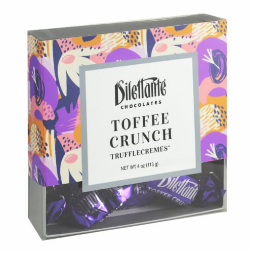Dilettante Chocolates Toffee Crunch Trufflecremes Candy Perspective: front