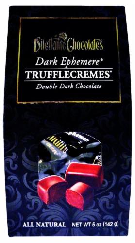 Dilettante Chocolates Dark Ephemere Truffle Cremes Double Dark Chocolate Perspective: front