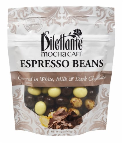 Dilettante Mocha Cafe Chocolate Covered Espresso Beans Perspective: front