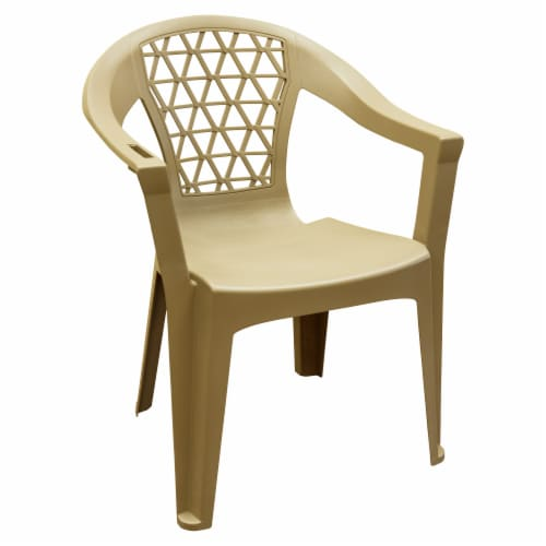 Adams Penza Stack Chair - Earth Brown Perspective: front
