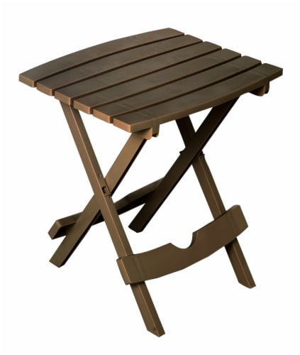 Adams Quik-Fold Side Table - Brown Perspective: front