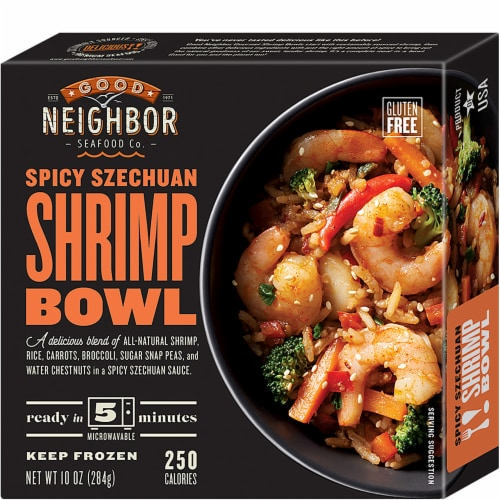 Good Neighbor Seafood Co. Spicy Szechuan Shrimp Bowl Frozen Meal Perspective: front