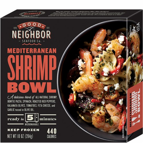 Good Neighbor Seafood Co. Mediterranean Shrimp Bowl Frozen Meal Perspective: front