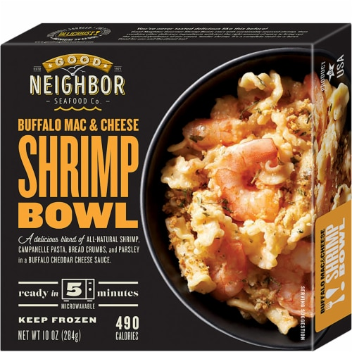 Good Neighbor Seafood Co. Buffalo Mac & Cheese Shrimp Bowl Frozen Meal Perspective: front