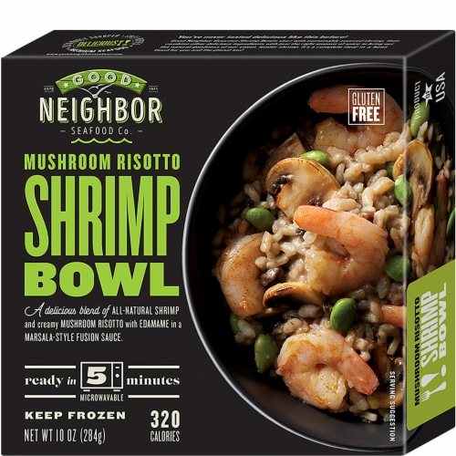 Good Neighbor Seafood Co. Mushroom Risotto Shrimp Bowl Frozen Meal Perspective: front
