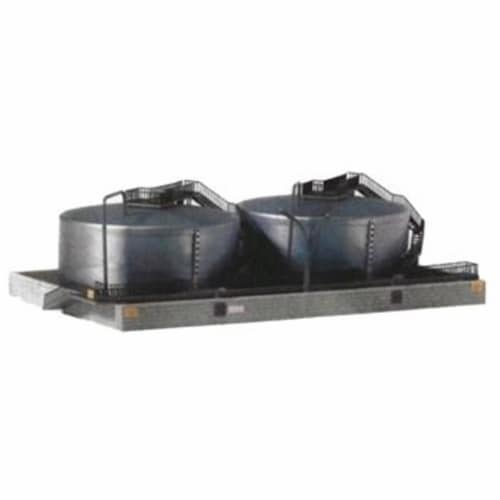 Model Power MDP1569 N Scale Twin Oil Tanks Building Kit Perspective: front