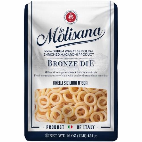 La Molisana Bronze Die Anelli Siciliani Durum Wheat Semolina Enriched Macaroni Product Perspective: front