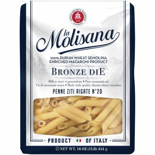 La Molisana Bronze Die Penne Ziti Rigate Pasta Perspective: front