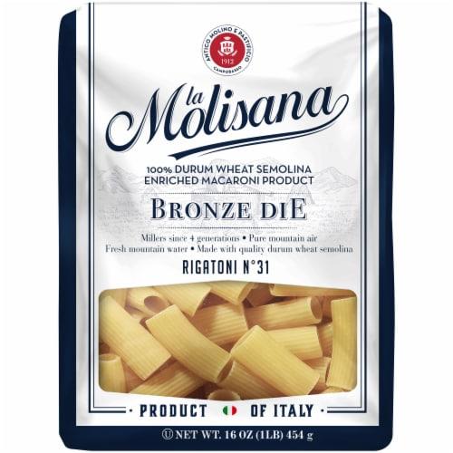 La Molisana Bronze Die Rigatoni Pasta Perspective: front