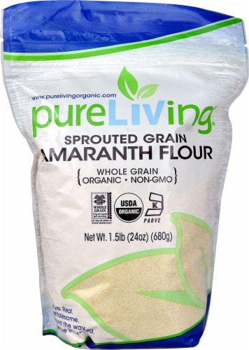Pure Living Organic Sprouted Amaranth Flour Perspective: front