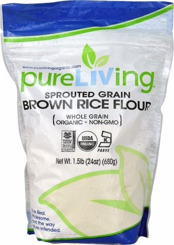 Pure Life Organic Sprouted Grain Brown Rice Perspective: front