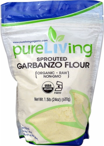 Pure Living Organic Garbanzo Bean Flour Perspective: front
