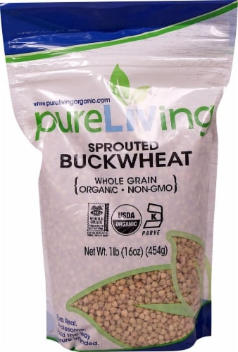 Pure Living Organic Sprouted Buckwheat Perspective: front
