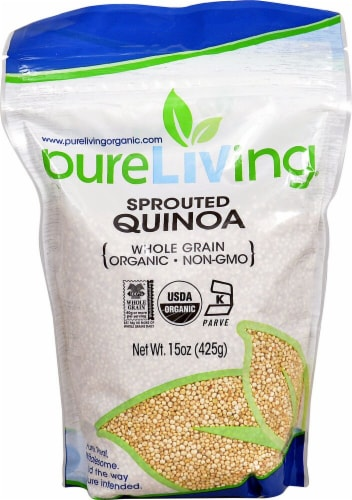 Pure Living Organic Sprouted Quinoa Perspective: front