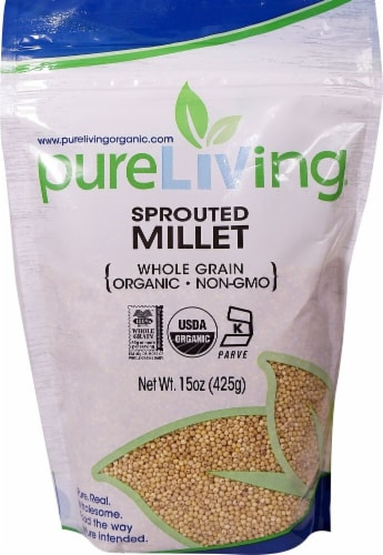 Pure Living Organic Sprouted Millet Perspective: front
