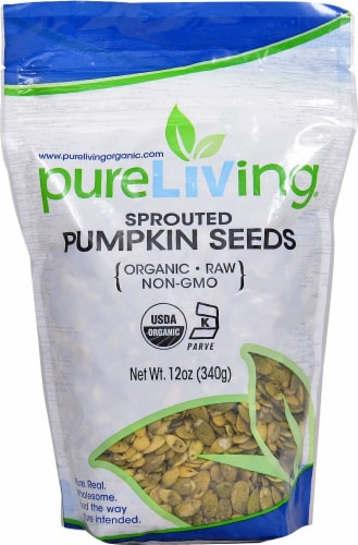 Pure Living Organic Sprouted Pumpkin Perspective: front