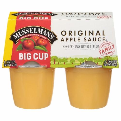 Musselman's Original Applesauce Big Cups Perspective: front