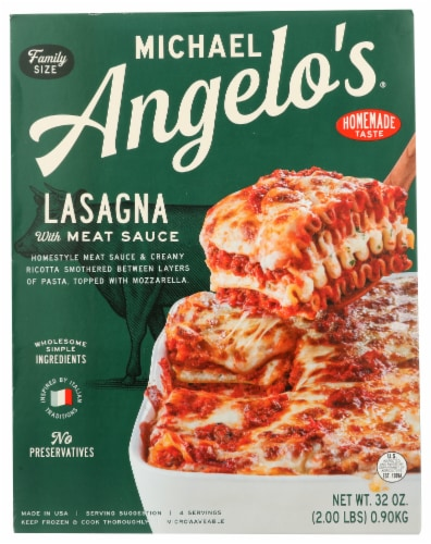Michael Angelo's Lasagna with Meat Sauce Perspective: front