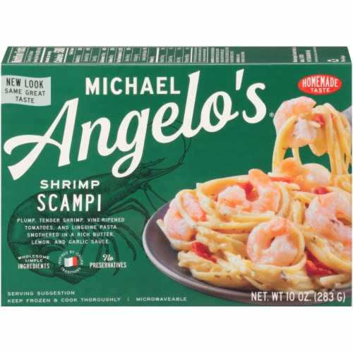 Michael Angelo's Shrimp Scampi Perspective: front