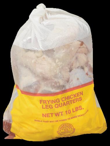 Tender Bird Frying Chicken Leg Quarters Perspective: front