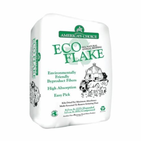 Americas Choice 67P2ECOAC Eco Flake Bedding, 3.0 cu. ft. Perspective: front