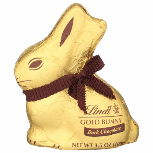 Lindt Dark Chocolate Gold Bunny Perspective: front