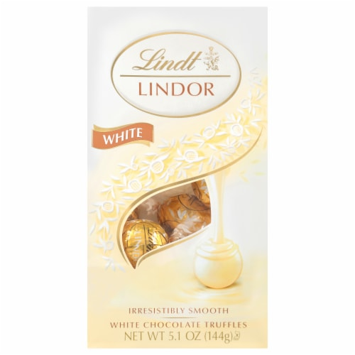 Lindt Lindor White Chocolate Truffles Perspective: front