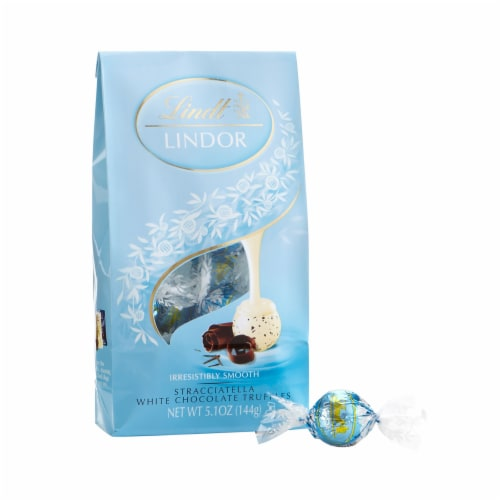 Lindt Stracciatella White Chocolate Truffles (3 Pack) Perspective: front