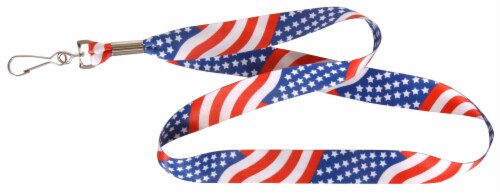 Hillman USA Flag Lanyard - Red/White/Blue Perspective: front