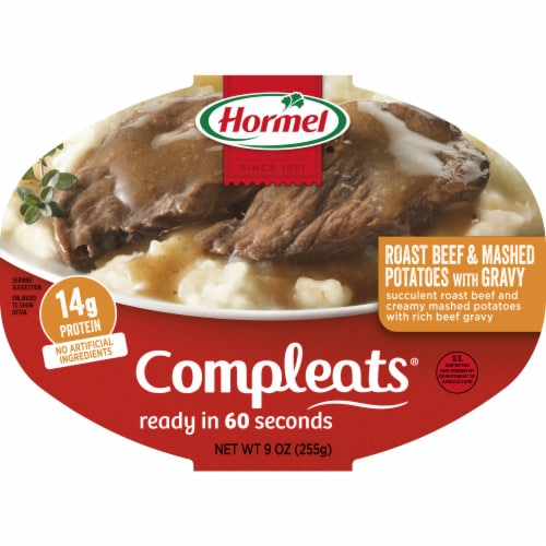Hormel Compleats Roast Beef and Mashed Potatoes with Gravy Perspective: front