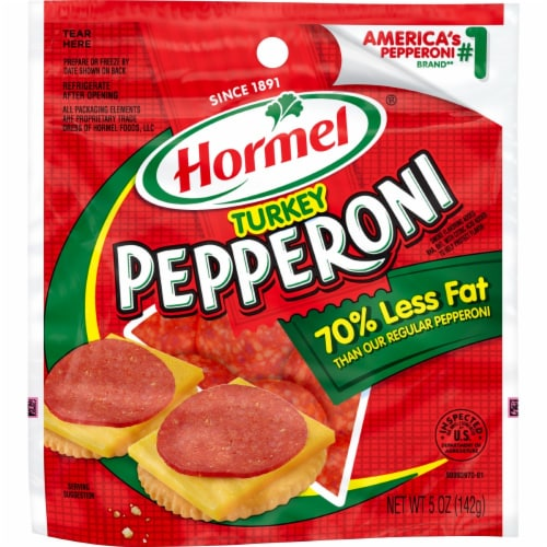 Hormel® Turkey Pepperoni Perspective: front