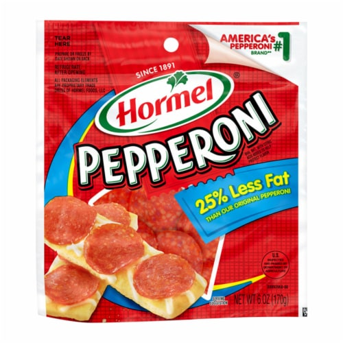 Hormel Reduced Fat Pepperoni Perspective: front