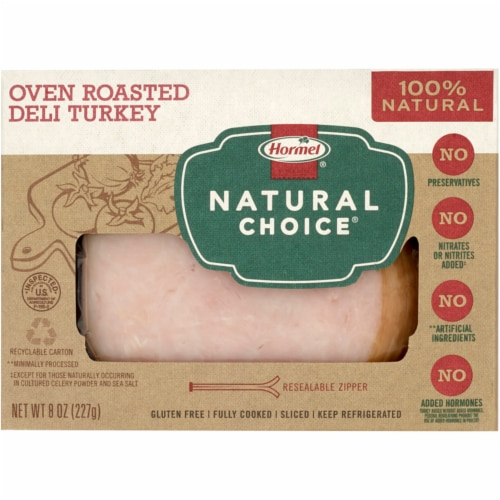 Hormel Natural Choice Oven Roasted Deli Turkey Perspective: front