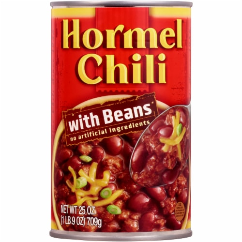 Hormel Chili with Beans Perspective: front
