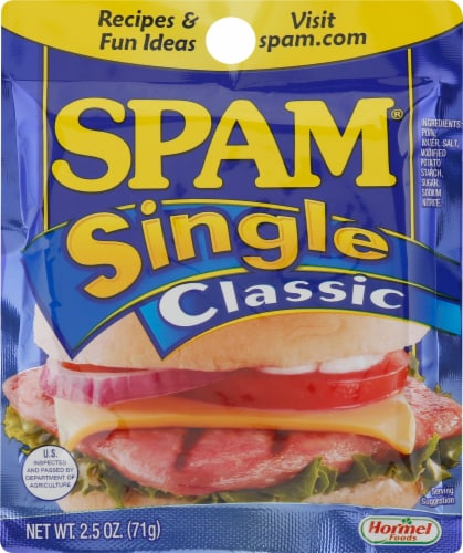 Spam Single Classic Perspective: front