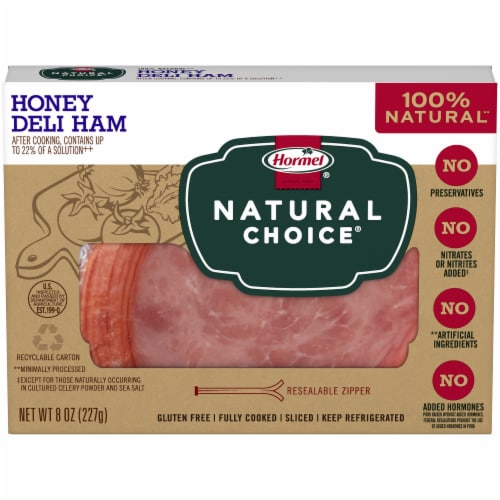 Hormel Natural Choice Honey Deli Ham Perspective: front