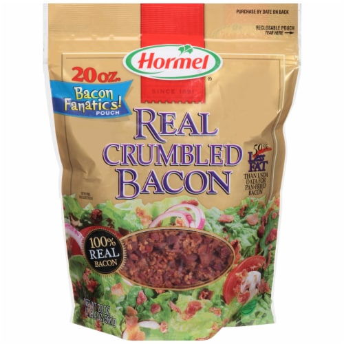 Hormel Real Crumbled Bacon Bits Perspective: front